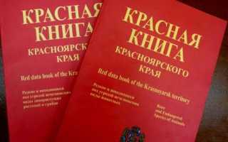 Красная книга Красноярского края