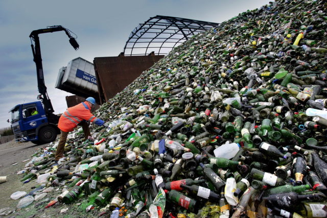 Стеклянные отходы