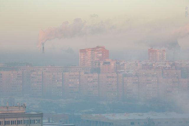 Черное небо над Красноярском
