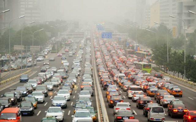 Загрязнение воздуха автомобилями