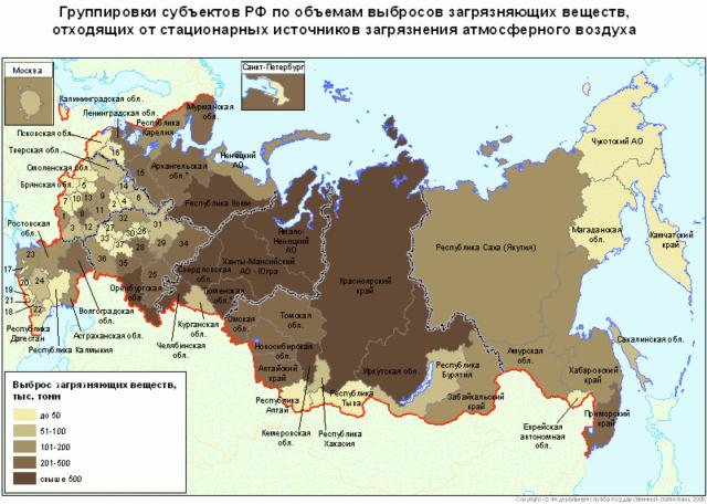 Экологическая карта России